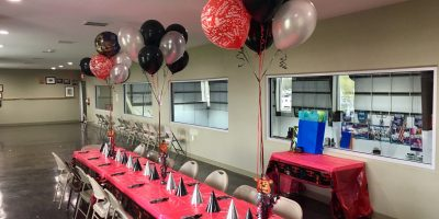 ATB Birthday Table Set Up